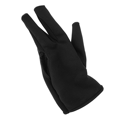 MagiDeal Guante de 3 Dedos de Algodón Profesional Resistente al Calor para Peluquería Color Negro