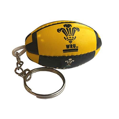 Webb Ellis Wales-Pelota rugby llavero [negro/amarillo]
