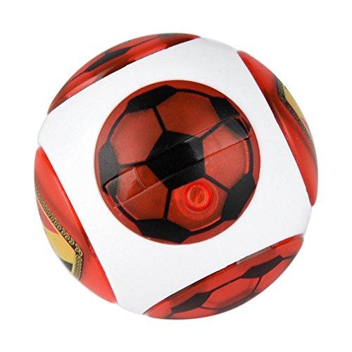 Xshuai 10x13x4,5 cm Hand Spinner Mini Finger Magnetische Ball Control Roll Spiel Induktion Schlacht Spielzeug (Rot) (Ding 1 Ding 2 Kleinkinder Kostüme)