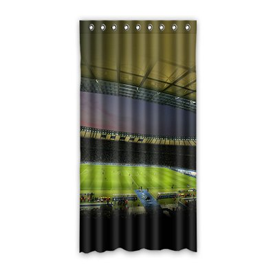 dalliy Custom Fußball Stadion Fenster Vorhang Polyester 127x 243,8cm über 127cm x 244cm (One Piece), Polyurethan, C, 50