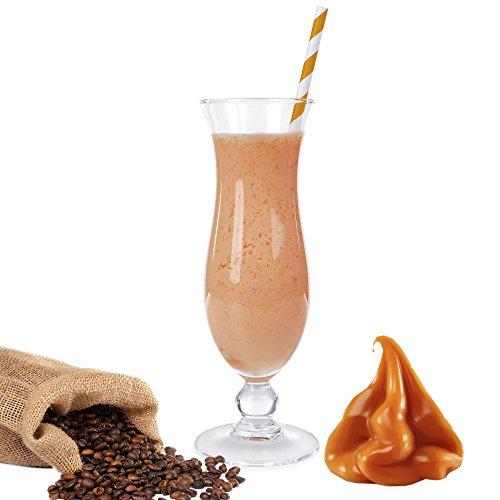 Karamell Kaffee Eiweißpulver Milch Proteinpulver Whey Protein Eiweiß L-Carnitin angereichert Eiweißkonzentrat für Proteinshakes Eiweißshakes Aspartamfrei (Karamell Kaffee, 1kg)