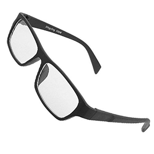 Frauen Männer Holzmaserung Kunststoff schwarz Arme umrandeten klare Linse Gläser