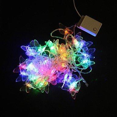 ribattere ZJ 5m 40-farfalla colorata di natale String LED per illuminazione Natale Matrimonio Partito (Farfalla Strings)