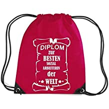 Camiseta stown Premium gymsac Diploma para mejores arbeiterin Social del Mundo, rojo