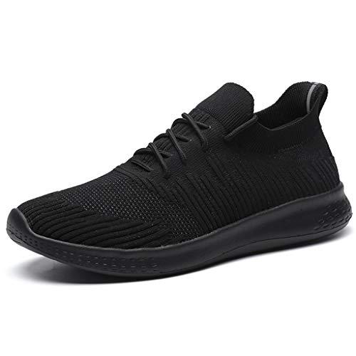 TWISFER Herren Laufschuhe Sneaker Straßenlaufschuhe Sportschuhe Flyknitted Turnschuhe Outdoor Leichtgewichts Freizeit Atmungsaktive Fitness Schuhe
