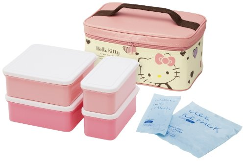 Hello Kitty – HELLO KITTY Coeur et rayures Refroidisseur de pique-nique ou de
