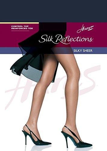 Silk Toe Hanes Top Reinforced Classic Reflections Pantyhose Control Navy 4wzXqdBz