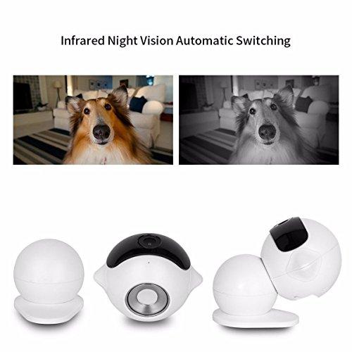 Wireless IP Überwachungskamera – ELEGIANT Mini Roboter 360 Grad Schwenkbar Drahtlose WLAN Wifi - 5