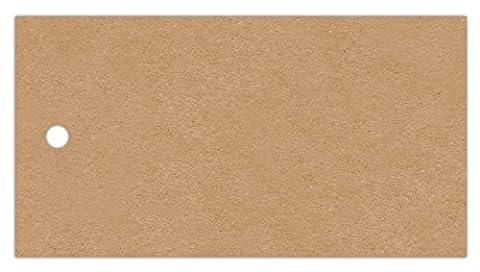 Anhänge-Etiketten AE-75-40-250 - 75x40 mm - braun-natur (11) - Fein-Karton 210g/m² - Lochstanzung 4 mm - beidseitig gut beschreibbar - 250 Stück