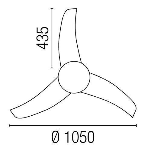 FaroXINLEE 33415 - EASY Weiß Deckenventilator [Energieeffizienzklasse A +]