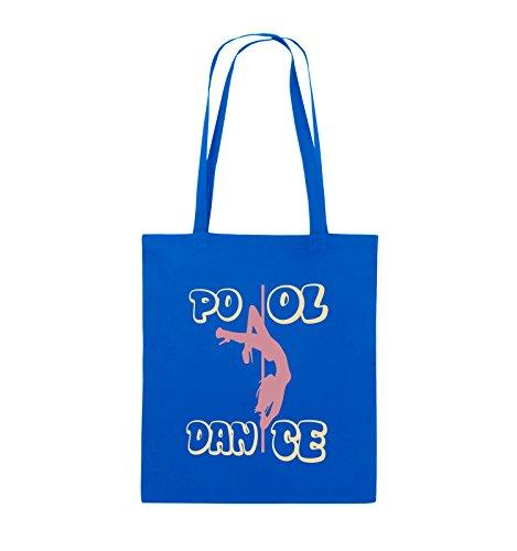 Buste Comiche - Pool Dance - Borsa In Juta - Manico Lungo - 38x42cm - Colore: Nero / Bianco-neon Verde Blu Royal / Rosa-beige