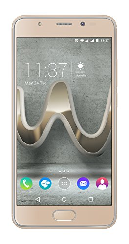 Wiko U Feel Prime Smartphone (12,7 cm (5 Zoll) Full HD IPS-Display, Fingerabdruck-Sensor, 32GB interner Speicher, Android 6 Marshmallow) gold