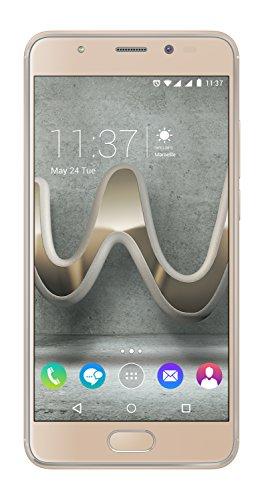 Wiko U Feel Prime Smartphone (12,7 cm (5 Zoll) Full HD IPS-Bildschirm, Fingerabdruck-Sensor, 32GB interner Speicher, Android 6 Marshmallow) gold