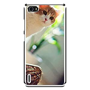 """MOBO MONKEY Designer Printed 2D Transparent Hard Back Case Cover for """"Huawei Honor 6"""" - Premium Quality Ultra Slim & Tough Protective Mobile Phone Case & Cover"""