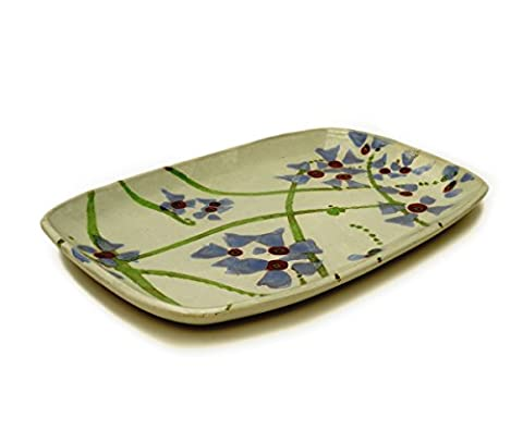 Serving Dish - Scattered Flower Design - Authentic hand made