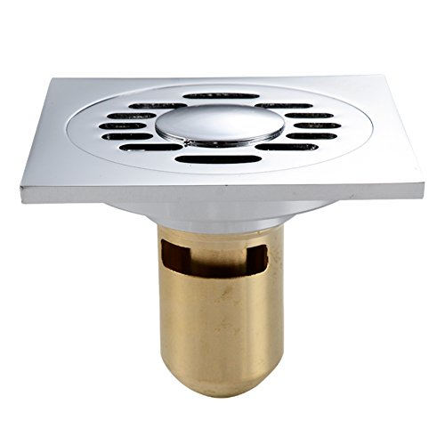 HCP Salida de planta de cobre Sello de agua profunda anti-hedor de metal a prueba de insectos desagüe de piso Baño lavadora para drenar-J