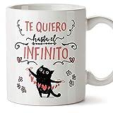 MUGFFINS Taza San Valentín (Te quiero) - Te quiero infinito - Regalos Originales y...