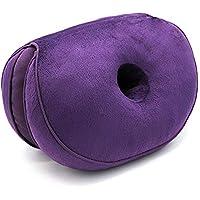 Preisvergleich für Xxy Multifunktionale Plüsch Schöne Hip-Seat-Kissen Klapp Kissen Kissen Kann Für Die Dual-Use-Warm-Bein Polster NAP Comfort Kissen Sitzkissen Auto-Sitz Matte Verwendet Werden,Purple