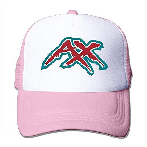 Summer Flexfit Trucker Mesh Cap, AX Letter Fitted Hats Sports Baseball Caps (Ax-men Hat)