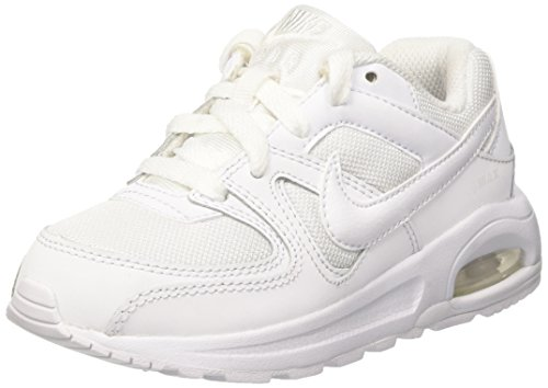 Nike Air Max Command Flex (PS) - Chaussures de Running - Mixte Enfant - Blanc (White) - 34 EU