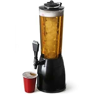 bar@drinkstuff - Distributore per birra e bevande ghiacciate, adatto per la casa e le feste (NB: Errore sulla confezione - illuminazione non inclusa)