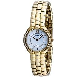 Orphelia Mon-7016 - Reloj analógico de cuarzo para mujer con correa de oro amarillo, color amarillo