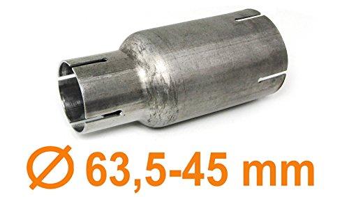 Carparts-Online 29940 Edelstahl Auspuff Rohr Reduzierstück Verbindung Adapter -