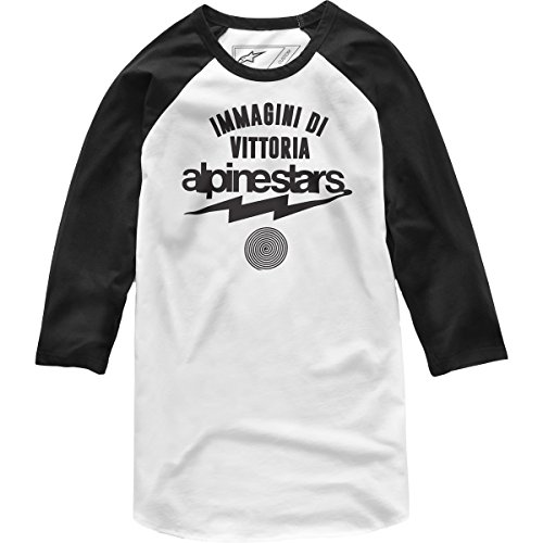T-shirt-männer Sleeve 4 3 (Alpinestars Herren Team Spirit Heritage Modern Fit 3/4 Sleeve T-Shirt, Weiß, XXL)