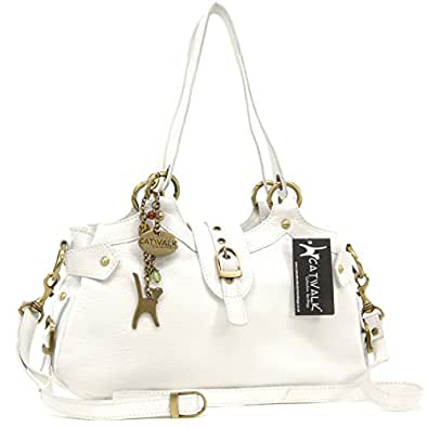 "Borsa in pelle a spalla di Catwalk Collection ""Nicole"" - Bianco"