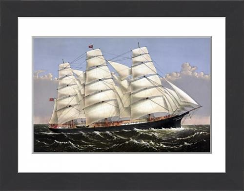 framed-print-of-vintage-print-of-the-clipper-ship-three-brothers