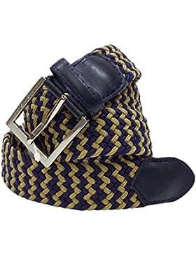 6b02f3e030ef Cintura intrecciata elasticizzata Gian Marco Venturi cod  GV704 Blu e Giallo