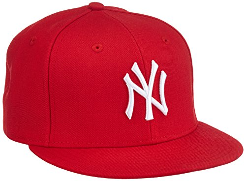 Baseballs Mlb Team (New Era Erwachsene Baseball Cap Mütze MLB Basic NY Yankees 59 Fifty Fitted, Scarlet/White, 6 5/8, 10879077)
