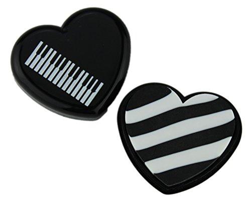 Radiergummi in Herzbox (10-Stück-Packung) (schwarz) - Schönes Geschenk für Musiker
