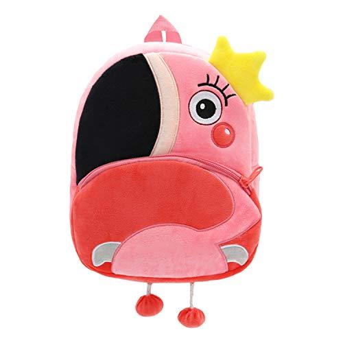 Sachen Vier (YUAND 2 4 Alter Niedlichen Tierform Kleinkind Rucksack Kindergarten Tasche Rucksack Kindergarten Daypack Schulranzen, Flamingo)