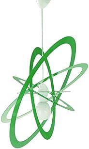 Lampadario per Cameretta Verde Mela Ovale Saturno
