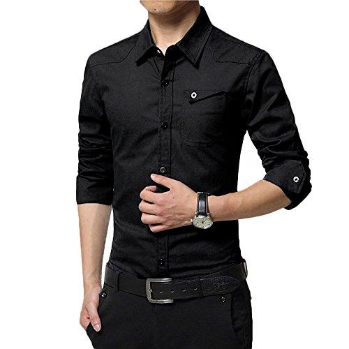 VECDY Herren Pullover, Räumungsverkauf Herbst Casual T-Shirt Military Cargo Slim Button Langarm Kleid Hemd Top Bluse V-Ausschnitt Sweatshirt - Cargo Top Zip Tote