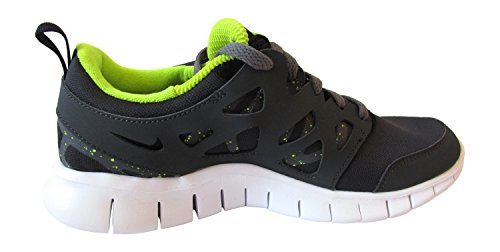 Nike Free Run 2 (Gs), 443742-021, Unisex - Kinder Laufschuhe Training black/dark grey-anthracite-force green 093