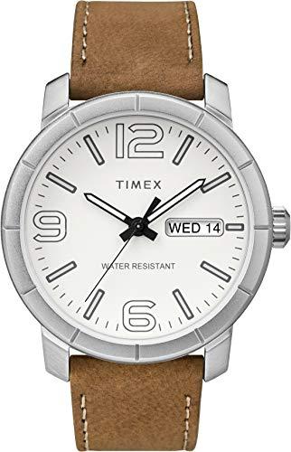 Timex Mixte Adulte Analogique Automatique Montre avec Bracelet en Cuir TW2R64100