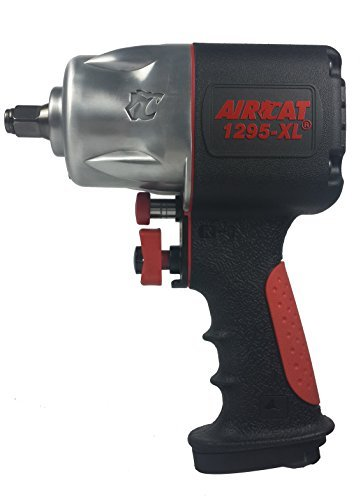 AIRCAT 1295-XL 1/2 Drive Full Power Compact Composite Impact Wrench, Silver/Black by AirCat - Aircat 1/2