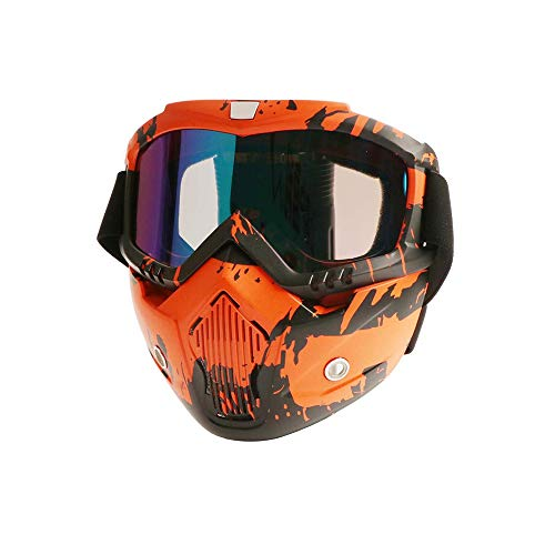 Máscara Paintball Airsoft Paint Gun Protection Gafas Fog Anti Cara Anti Cara Térmica Oído Shooting Empire para Pelo de Bola Casco de Rango Completo Marcadores de Carrera Fría Armas Máscaras,C