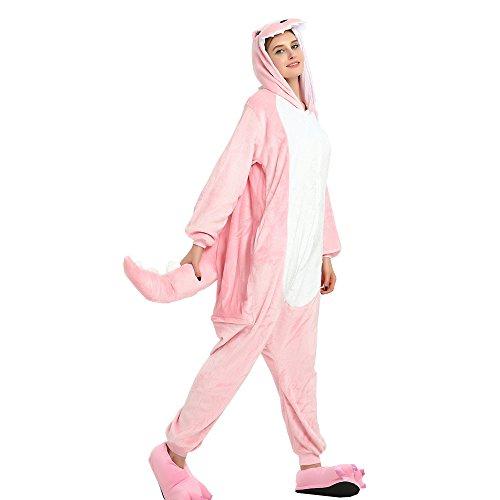 Crazy lin Unisex Erwachsene Dinasour Homewear Cosplay Party Kostüme Nachtwäsche Pyjamas (Pink, Small)