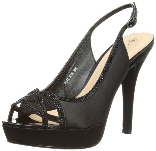 Lunar Flr212, Escarpins Bout ouvert Femme Noir (Black)