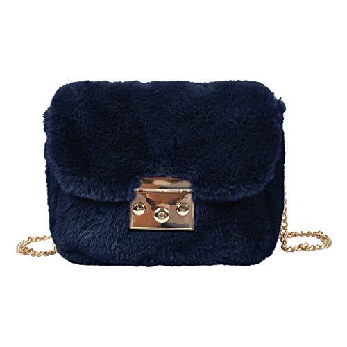 TAMALLU Damen Messenger Bags Einzelner Schulterbeutel Reise Retro Einfach Trend Haspe Mode Totes(Blau)