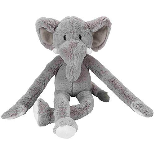 Multi Pet Swin Gin Safari Elefant 22Plüsch Hundespielzeug mit extra Lange Arme und Beine mit Quietscher -