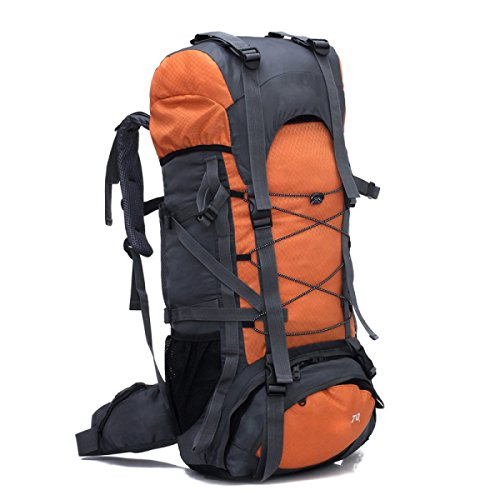 Outdoor-Bergsteigen-Beutel-Sport-Männer Und Frauen-doppelter Schulter-Beutel,Black Orange