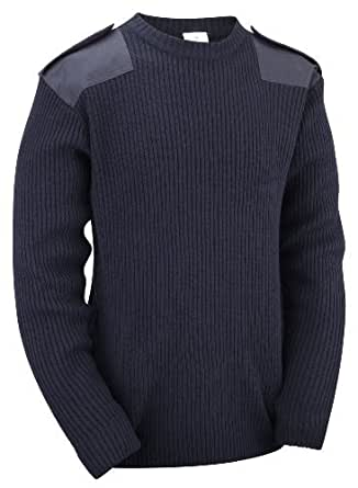 Unknown - Pull -  Homme -  Bleu - Bleu marine - Small