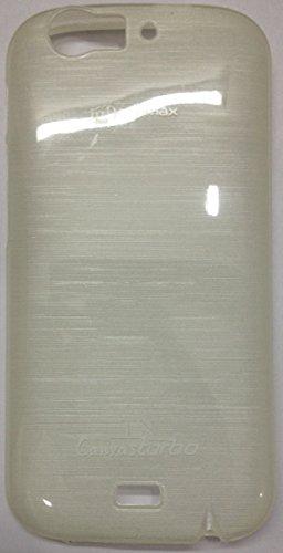 MACC Premium Glossy Soft Silicon Back Case Cover For Micromax Canvas Turbo A250 - White