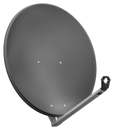 Goobay SAT-Spiegel/Schüssel (80 cm, HDTV, 40mm Feed, 30-60mm Mast) anthrazit