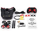 KNOSSOS 5.8G 40CH FPV Camera Mini RC Racing Drone Quadcopter with 3in Headset Goggles - Red & Black