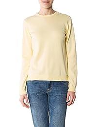 109dffda5f97fc GANT Damen Pullover Baum Wolle Sweater Unifarben, Größe: XL, Farbe: Gelb